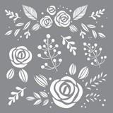 """Εικόνα του Americana Decor Stencil 8""""X8"""" - Whimsical Flora"""
