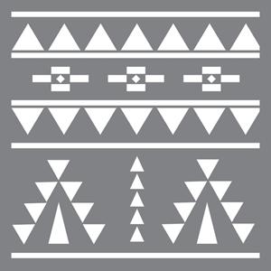 "Picture of Americana Mixed Media Stencil 12""X12"" - Aztec"