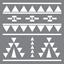 """Εικόνα του Americana Mixed Media Stencil 12""""X12"""" - Aztec"""