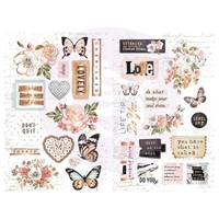 Εικόνα του Apricot Honey Chipboard Stickers