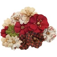 Εικόνα του Christmas In The Country Mulberry Paper Flowers - St. Nick