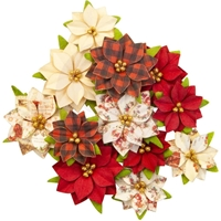 Εικόνα του Christmas In The Country Mulberry Paper Flowers - Sugarplum