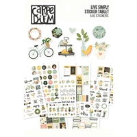 Εικόνα του Carpe Diem A5 Planner Sticker Tablet - Live Simply