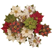 Εικόνα του Christmas In The Country Mulberry Paper Flowers - Wonderland