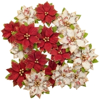 Εικόνα του Christmas In The Country Mulberry Paper Flowers - Kris Kringle