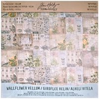 """Εικόνα του Idea-Ology Vellum Paper Stash 12""""X12"""" - Wallflower"""