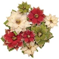 Εικόνα του Christmas In The Country Mulberry Paper Flowers - Tidings
