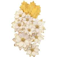 Εικόνα του Christmas In The Country Mulberry Paper Flowers - White Christmas