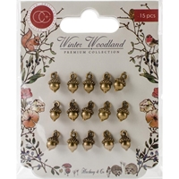 Εικόνα του Craft Consortium Winter Wonderland Metal Charms - Vintage Metal Acorn