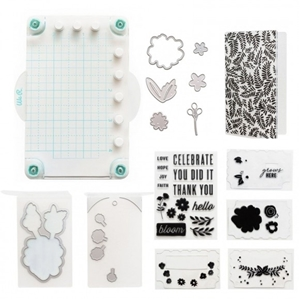 Picture of We R Memory Keepers Mini Stamp, Die &Emboss Kit - Floral