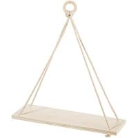 Εικόνα του Unfinished Wood Hanging Shelf - Ξυλινο Ραφι