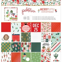 "Εικόνα του Pebbles Single-Sided Paper Pad 12""X12""  -  Merry Little Christmas"