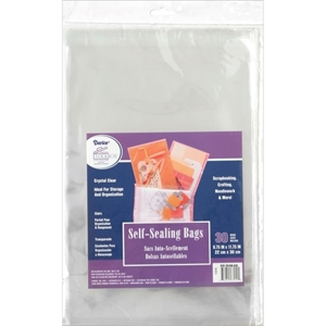 """Picture of Darice Self-Sealing Bags - 8.75""""X11.75 Clear"""