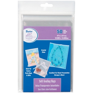 "Picture of Darice Self-Sealing Bags - 4.75""X5.75"" Clear"