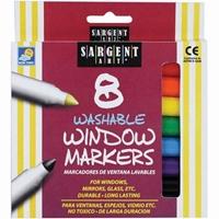 Εικόνα του Sargent Art Washable Window Markers - Πλενόμενοι Μαρκαδόροι για Γυαλί