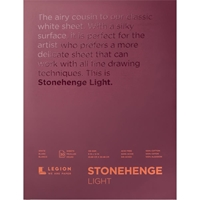 "Εικόνα του Stonehenge Light Paper Pad 9""X12"" - White"