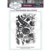 Εικόνα του Creative Expressions Rubber Stamp By Andy Skinner - Distressed Wallpaper