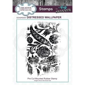 Picture of Creative Expressions Rubber Stamp By Andy Skinner - Distressed Wallpaper