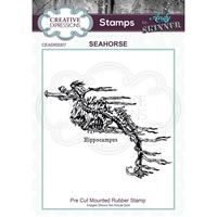 Εικόνα του Creative Expressions Rubber Stamp By Andy Skinner - Seahorse