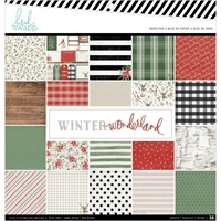"Εικόνα του Heidi Swapp Single-Sided Paper Pad 12""X12"" - Winter Wonderland"