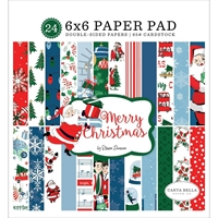 "Εικόνα του Carta Bella Double-Sided Paper Pad 6""X6"" - Merry Christmas"