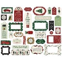 Εικόνα του Echo Park A Cozy Christmas Cardstock Ephemera - Frames & Tags