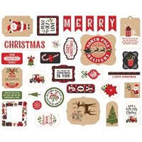 Εικόνα του Echo Park My Favorite Christmas Cardstock Ephemera - Icons