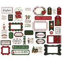 Εικόνα του Echo Park Here Comes Santa Claus Cardstock Ephemera - Frames & Tags