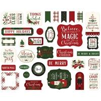 Εικόνα του Echo Park Here Comes Santa Claus Cardstock Ephemera - Icons