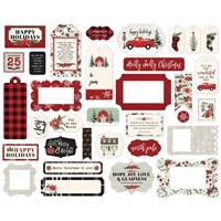 Εικόνα του Carta Bella Christmas Market Cardstock Ephemera - Frames & Tags