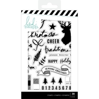 Εικόνα του Heidi Swapp Winter Wonderland Clear Stamps - Words & Icons