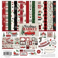 "Εικόνα του Carta Bella Collection Kit 12""X12"" - Christmas Market"