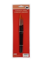 Εικόνα του AMI Set of 3 Fine Round Synthetic Paintbrushes - Σετ Πινέλων