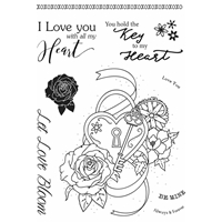 Εικόνα του Sweet Dixie Clear Stamps Sharon Callis - Heart Lock