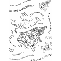 Εικόνα του Sweet Dixie Clear Stamps Sharon Callis - Thoughtful Wishes