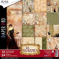 "Εικόνα του Ciao Bella Double-Sided Paper Pack 12""X12"" - La Traviata"