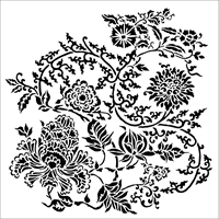 Εικόνα του Crafter's Workshop Template 15x15 - Asian Floral