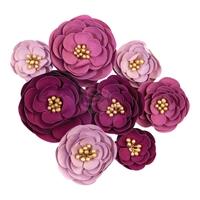Εικόνα του Darcelle Fabric Flowers - Plum Afternoon