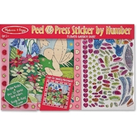 Εικόνα του Melissa & Doug Peel & Press Sticker By Number Kit - Flower Garden Fairy