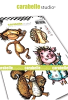 Εικόνα του Carabelle Studio Cling Stamp A6 by La Rafistolerie - Funny Animals