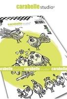 Εικόνα του Carabelle Studio Cling Stamp A6 by Azoline - Funny Birds