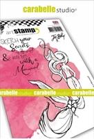 Εικόνα του Carabelle Studio Cling Stamp A6 by Jen Bishop - Sketch a Mermaid