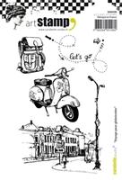 Εικόνα του Carabelle Studio Cling Stamp A6 - Voyage pour Globetrotter