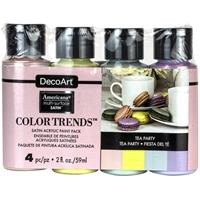 Εικόνα του Σετ Ακρυλικά Χρώματα Americana Trends Multi-Surface Paint - Tea Party
