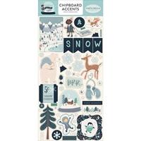 Εικόνα του Snow Much Fun Chipboard Αυτοκόλλητα Διακοσμητικά