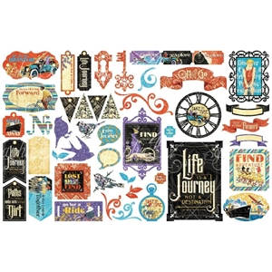 Picture of Life's A Journey Cardstock Die-Cut Assortment
