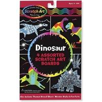 """Εικόνα του Κιτ χαρακτικής Scratch Art Board Set 6""""X10"""" - Δεινόσαυροι"""