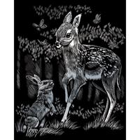 """Εικόνα του Silver Foil Σετ Χαρακτικής 8""""X10"""" - Fawn And Bunny"""