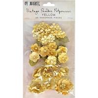 Εικόνα του 49 & Market Vintage Shades Potpourri Χάρτινα Λουλούδια - Yellow