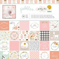 Εικόνα του Pebbles Μπλοκ Scrapbooking 30.5x30.5  -  Peek-A-Boo You Girl